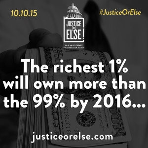 Justice Or Else on the 1% and 99%