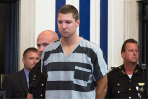 Former University of Cincinnati police officer Ray Tensing appears at Hamilton County Courthouse for his arraignment in the shooting death of motorist Samuel DuBose. Photo: AP World Wide Photo