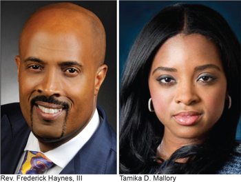 Rev. Frederick Haynes, Tamika D. Mallory took part in the discussion of Justice or Else