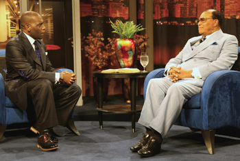 Pastor Jamal Bryant interviews the Honorable Minister Louis Farrakhan at The Word Network